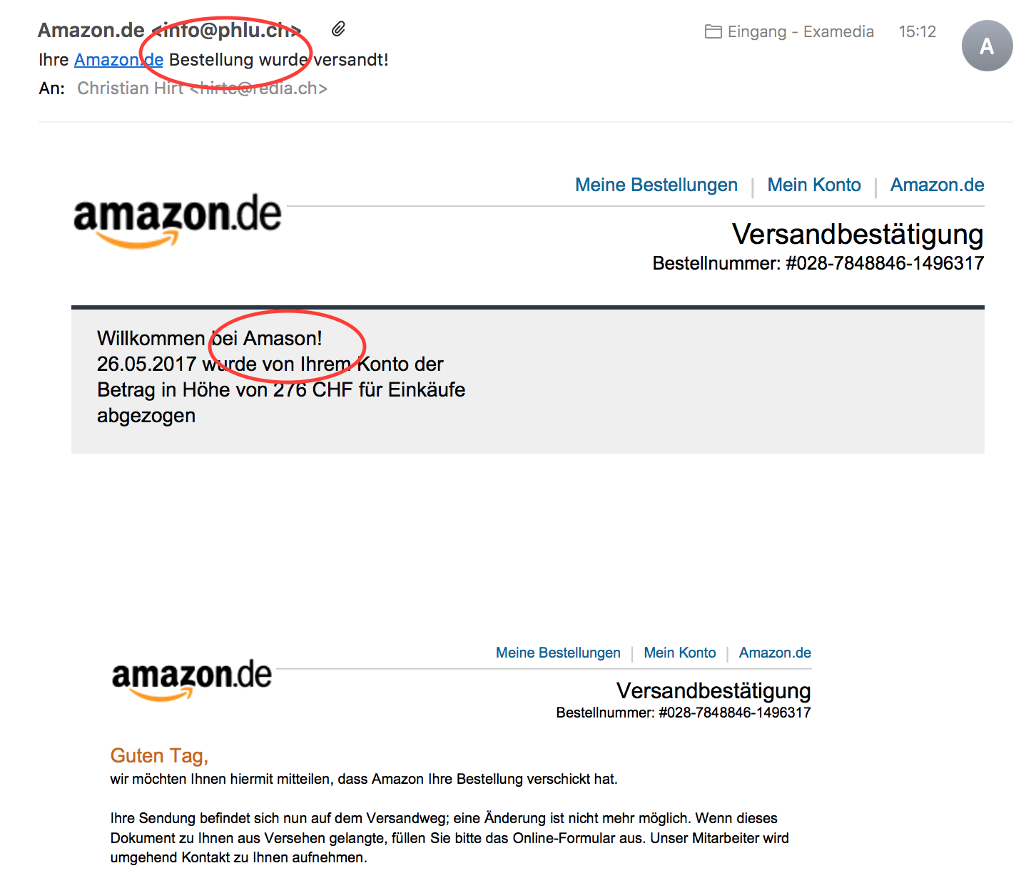 Phishing Mail erkennen | examedia GmbH